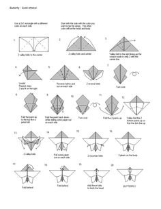 origami butterfly instructions pdf