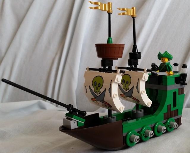 spongebob pirate ship lego instructions