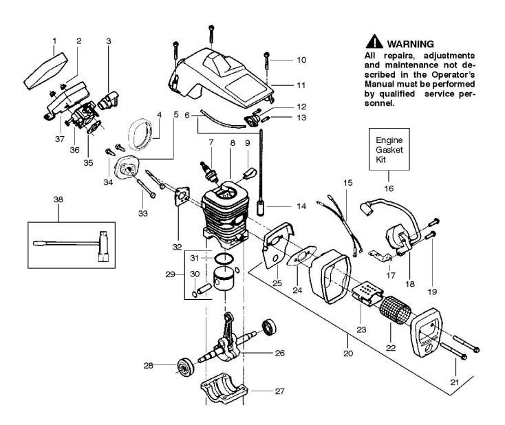 Husqvarna 345 parts list pdf