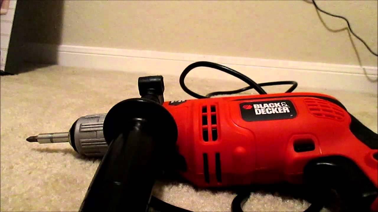 black and decker hammer drill manual