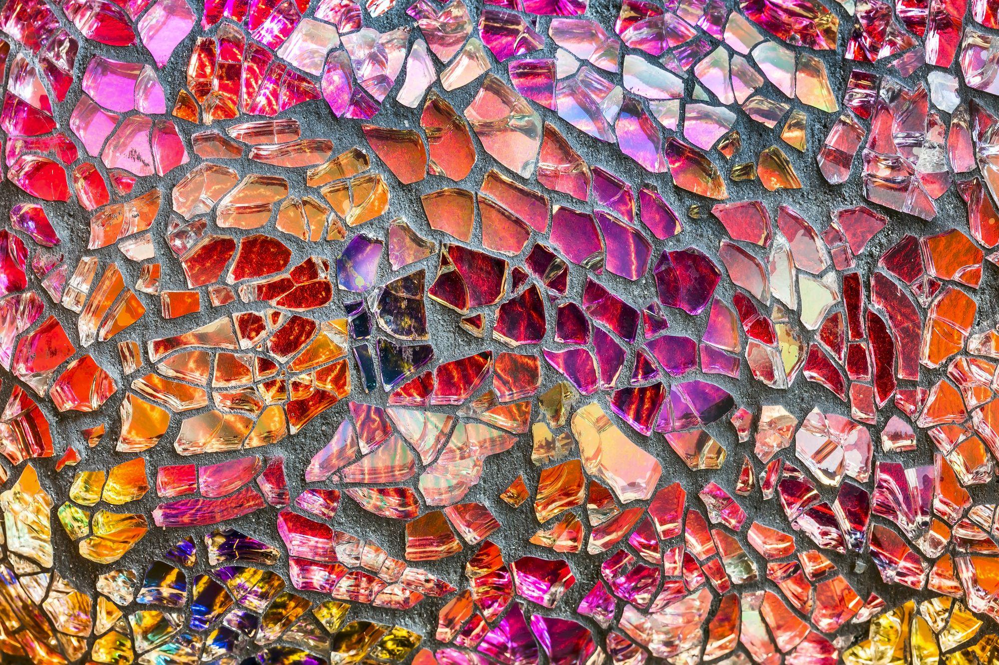 broken glass mosaic instructions