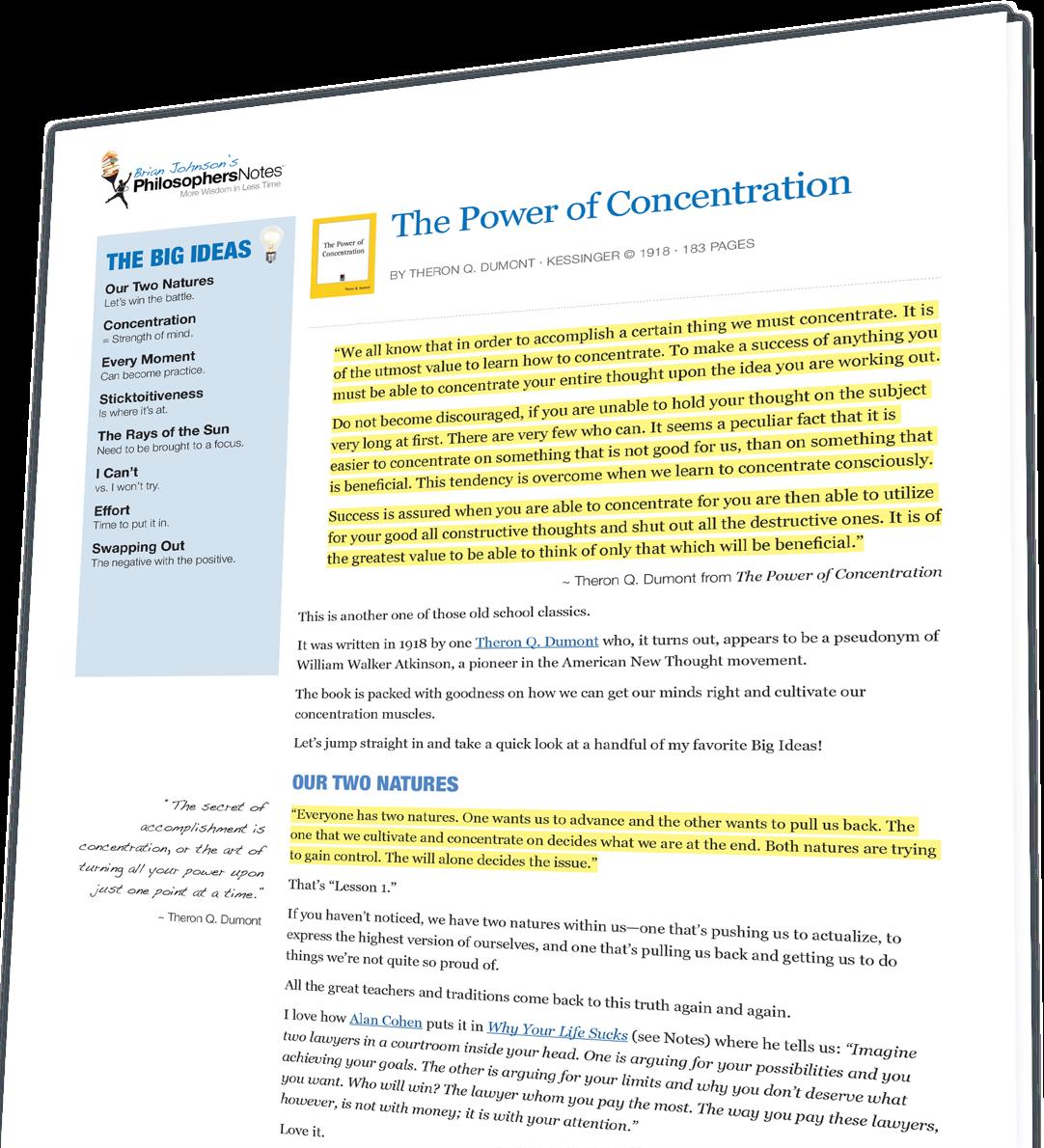 Rapt book on concentration pdf
