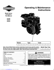 briggs and stratton 550e manual