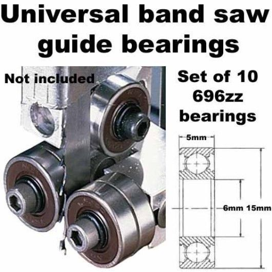 Carter bandsaw guide replacement bearings