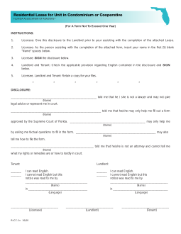 Florida residential rental application pdf