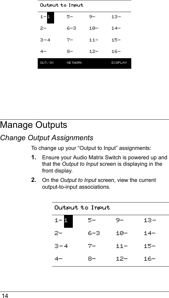 Control4 audio matrix switch manual