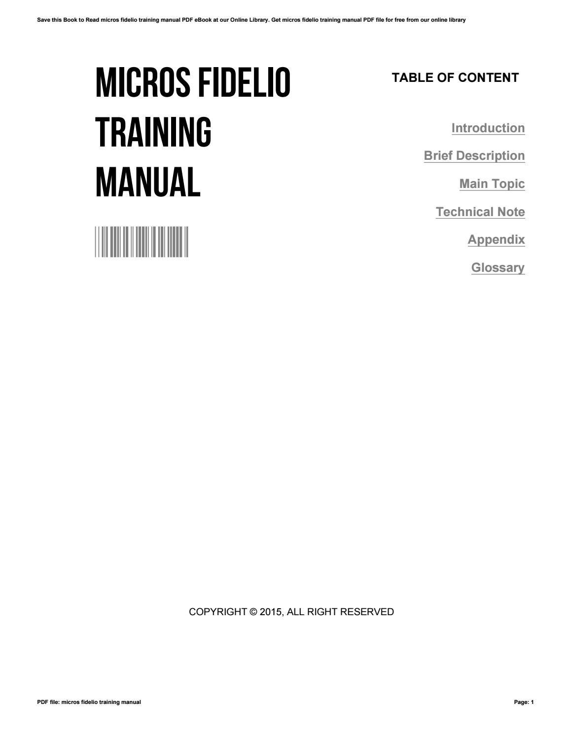 micros simphony training manual pdf