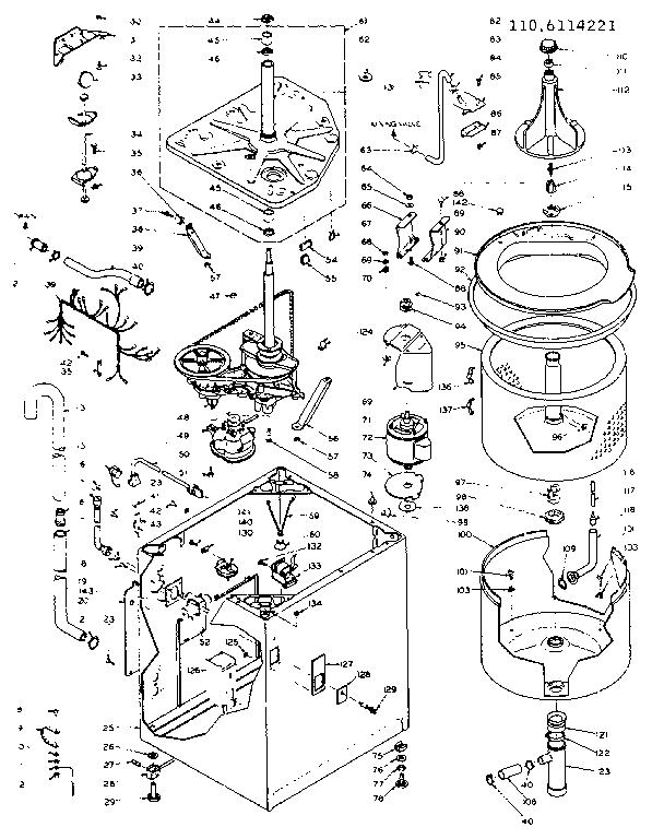 kenmore washer repair manual model 110