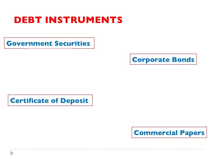 Different types of financial instruments in india pdf