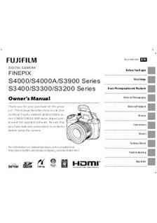 fujifilm finepix s3200 user manual