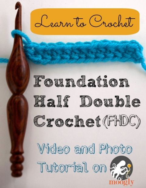 easy instructions to half double crochet