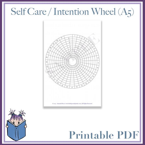 self care wheel instructions