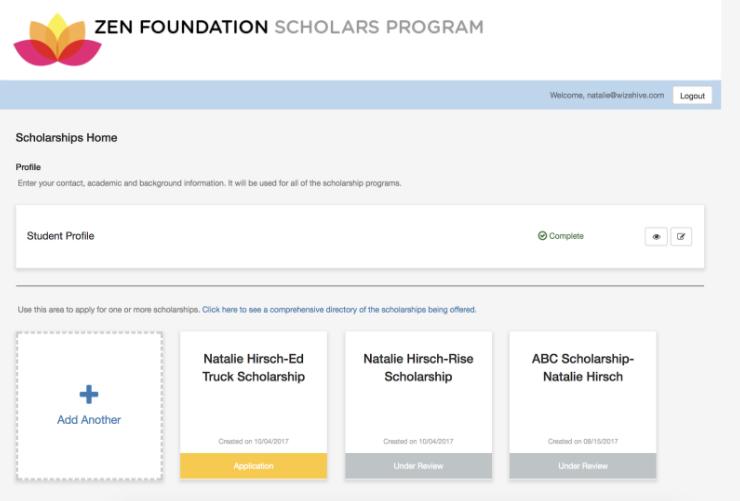 Ecu online scholarship application portal