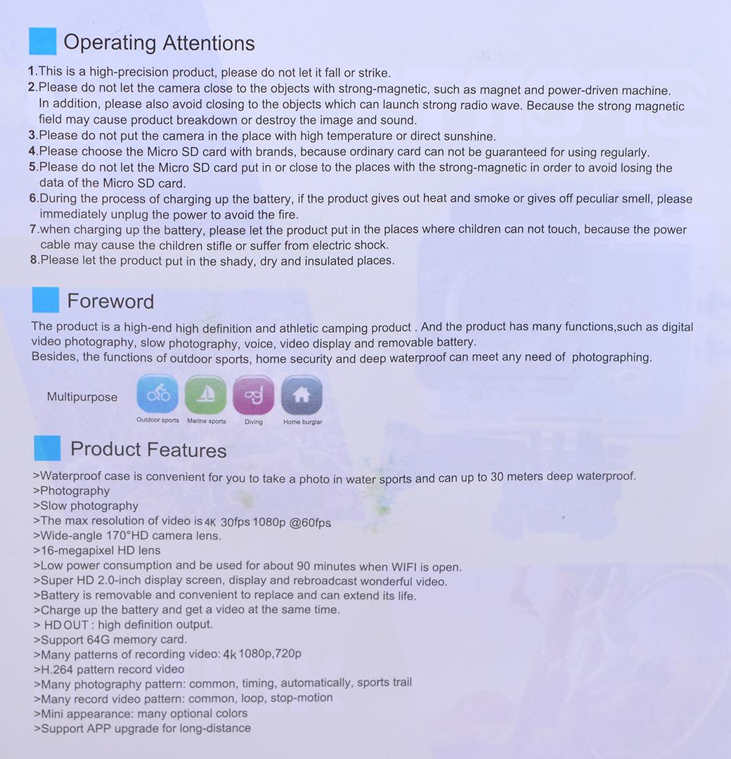 eletecpro 4k wifi ultra hd waterproof manual