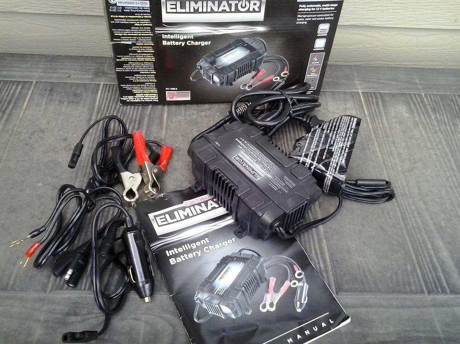 eliminator battery charger instructions