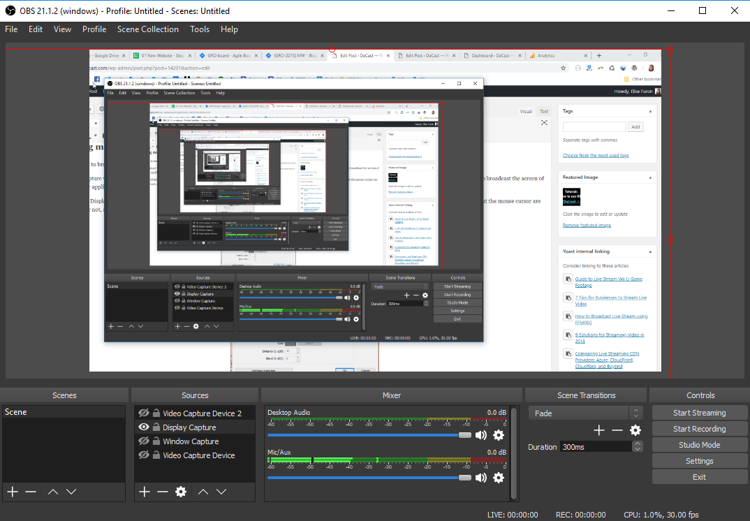 Obs studio how to create 2 video steams