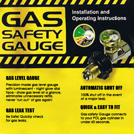Gas safety gauge instructions
