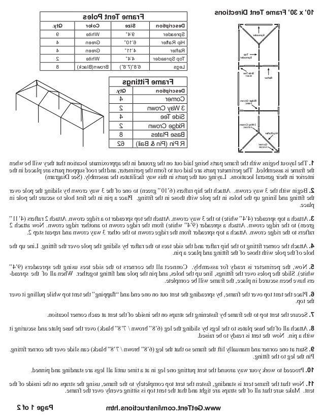Gazebo party tent instructions