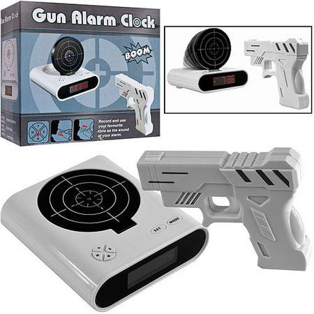 gun and target alarm clock instructions