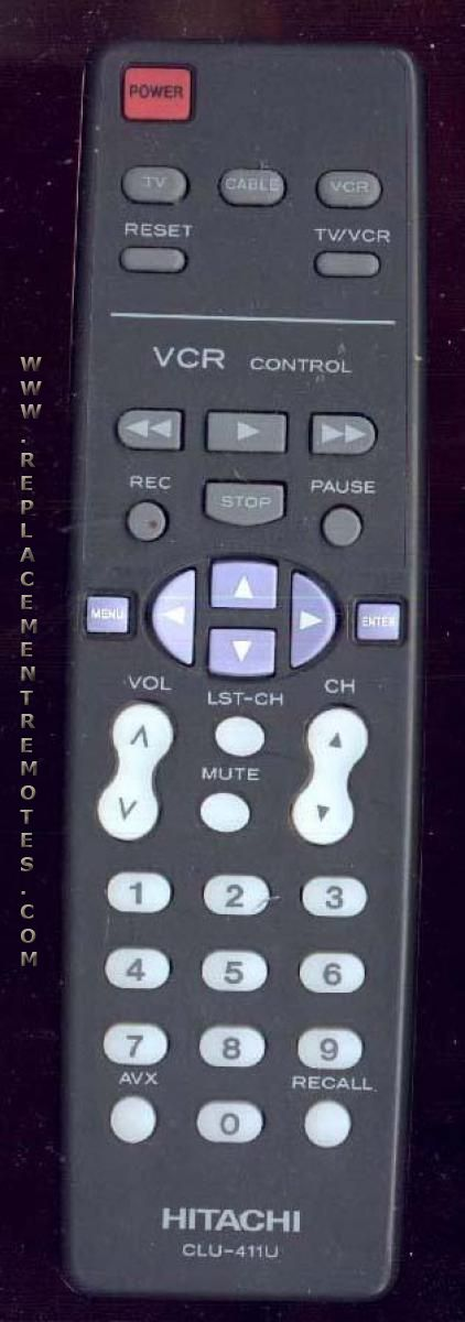 hitachi remote control instructions