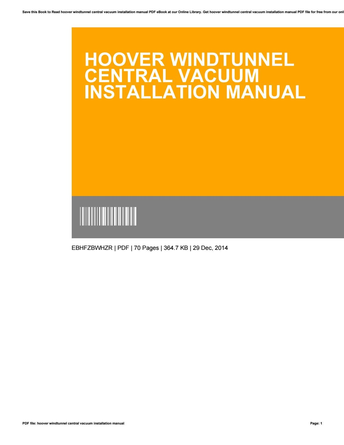 hoover generation 3 central vacuum manual
