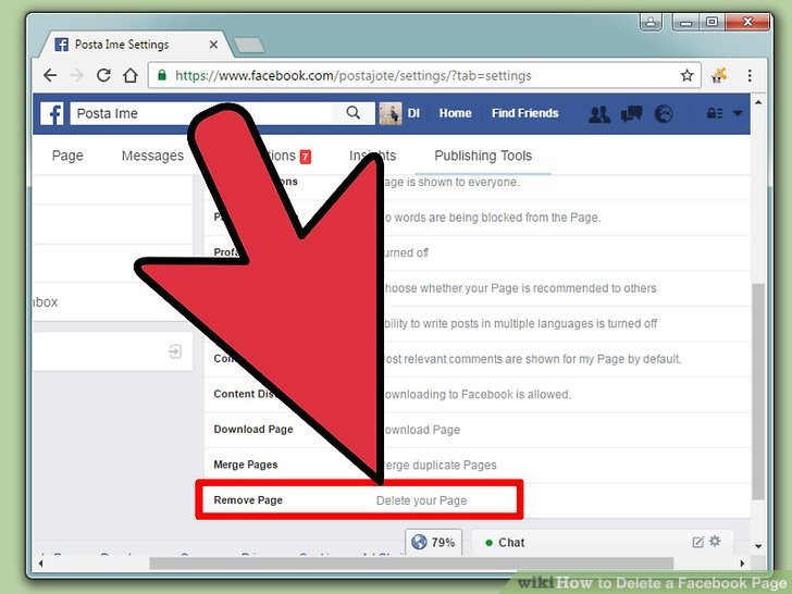 How do you upload a document to a facebook page