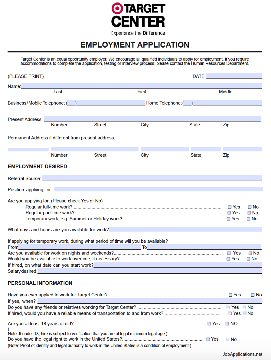 Job application form for bunnings warehouse