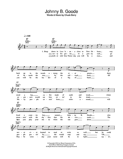 Johnny b goode bass tab pdf