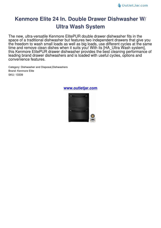 Kenmore elite ultra wash dishwasher manual