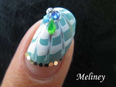 Marble nail design tutorial