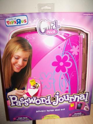 mattel password journal instructions