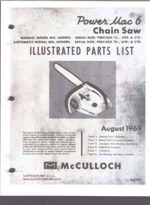 Mcculloch power mac 6 manual