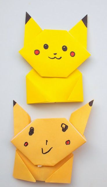 pokemon origami book instructions