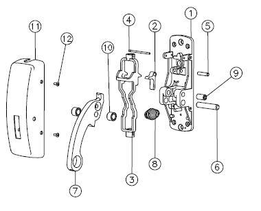 sargent exit device parts manual