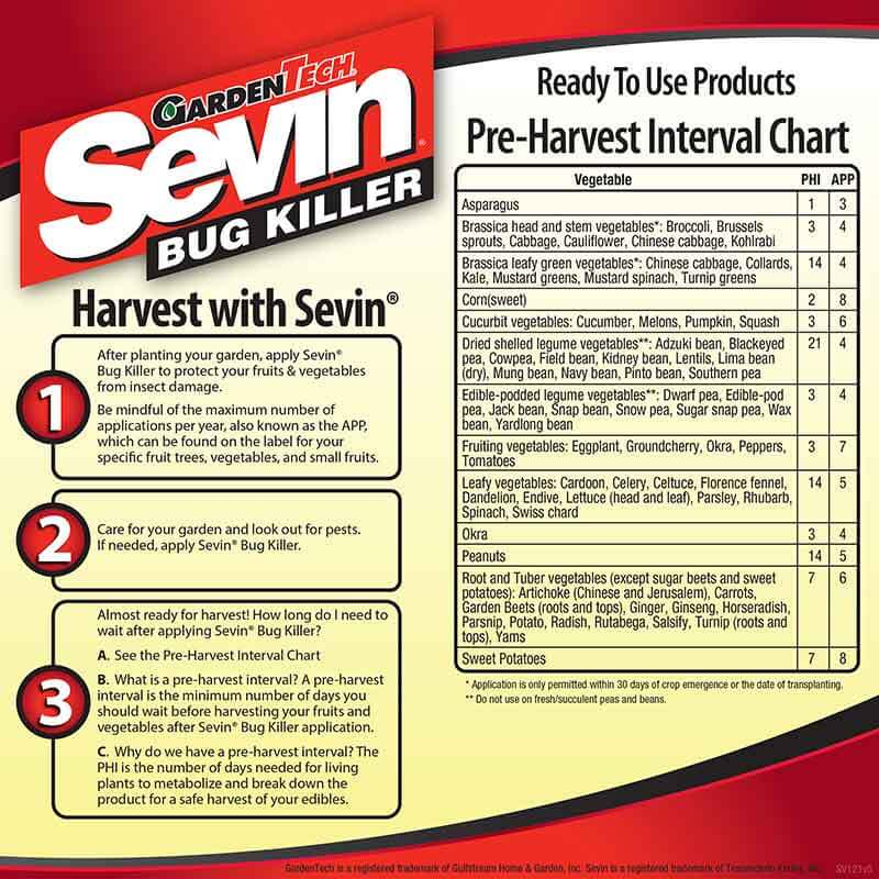 sevin bug spray instructions