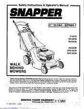 Snapper 28 hi vac manual