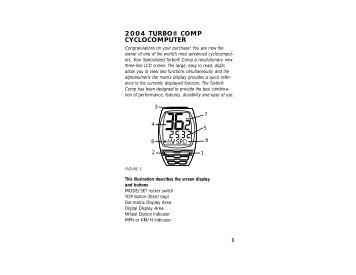 specialized sport bike computer manual