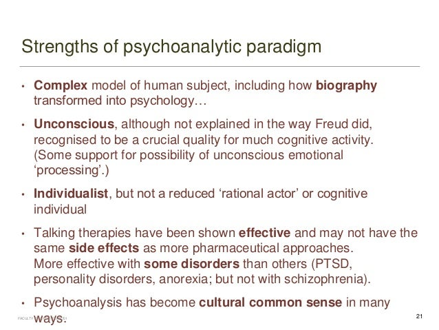 Strengths and weaknesses of psychoanalytic theory pdf