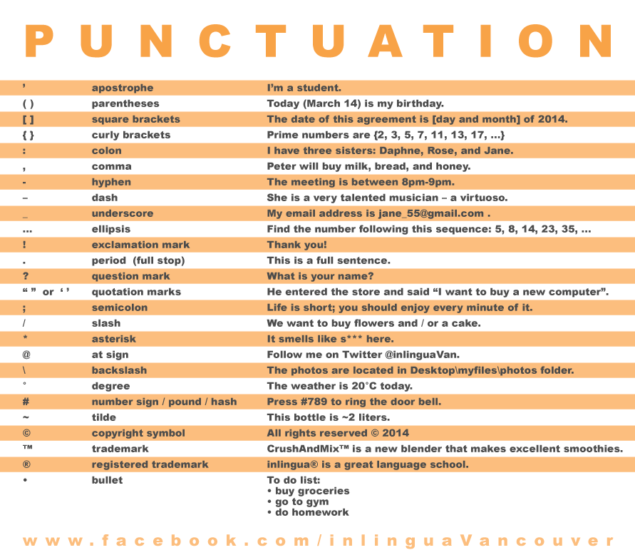 Uses of punctuation marks in english language pdf