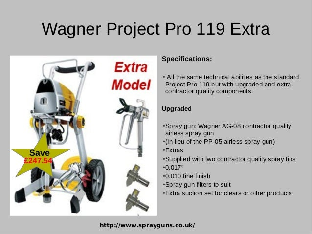 wagner project pro 119 instructions